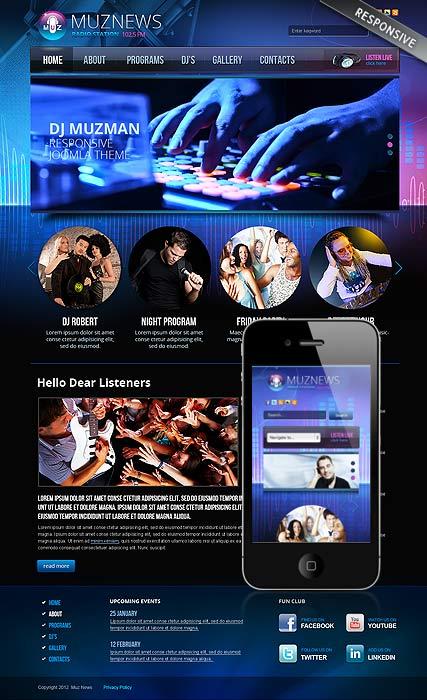 Radio Station v3.0 Website Design