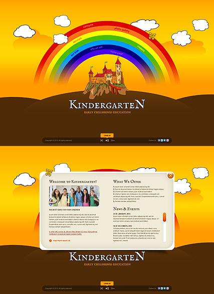 Kindergarten World Website Design