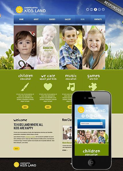 Kindergarten Land Website Design