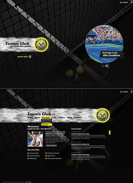 Tennis Sport Website Design