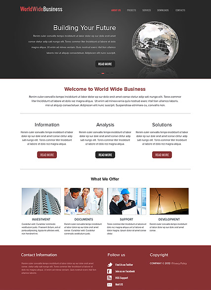 WorldWide Business Website Design