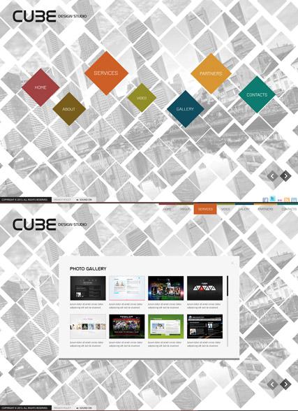 Cube Design Website Design