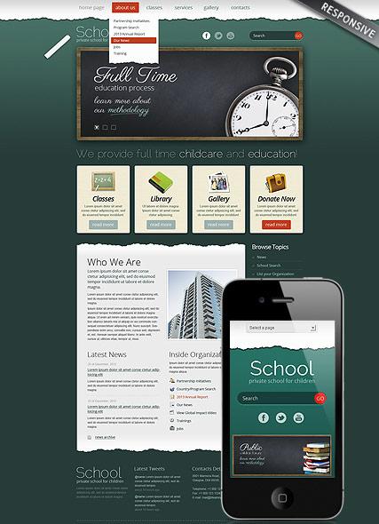 School Theme Website Design