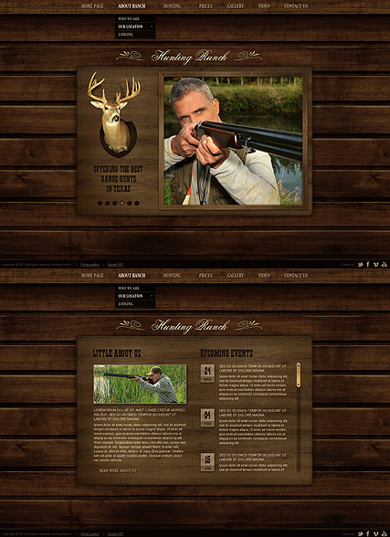 Hunting Ranch Website Design