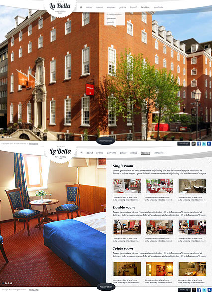 The Hotel Website Design
