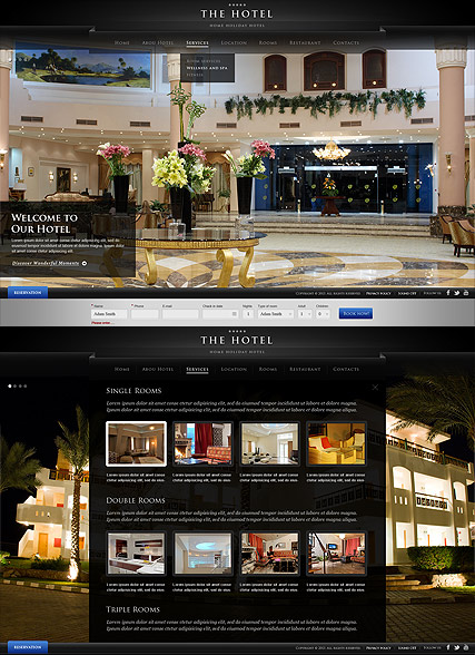 The Hotel Website Design
