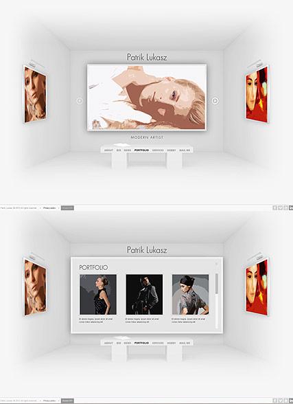 Artist Exhibition Website Design