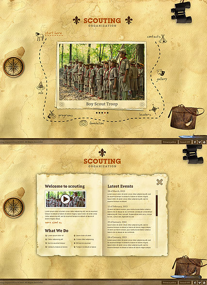 Scouting Website Design