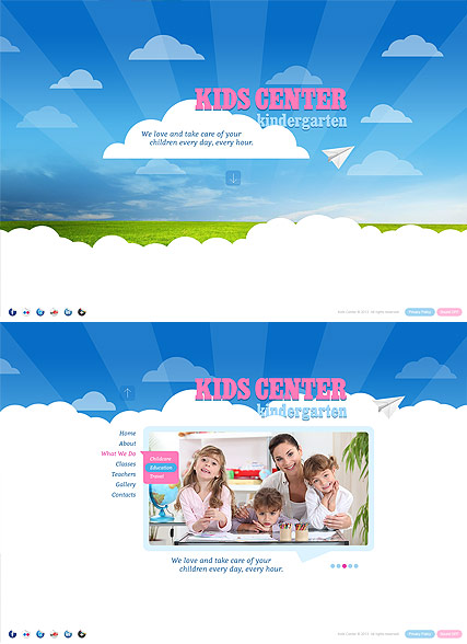 Kids Center Website Design