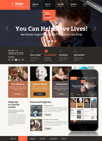 Children Charity Website Design
