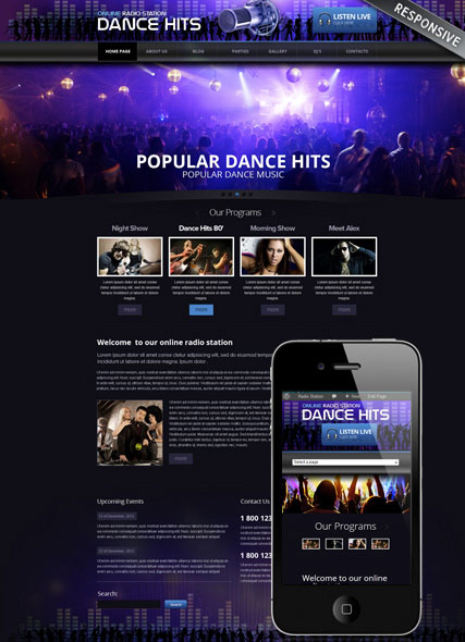 Online Radio Website Design
