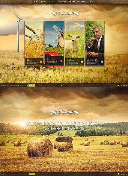 Agro Company Website Design