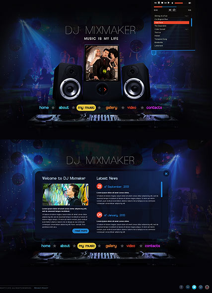 DJ Mix Website Design