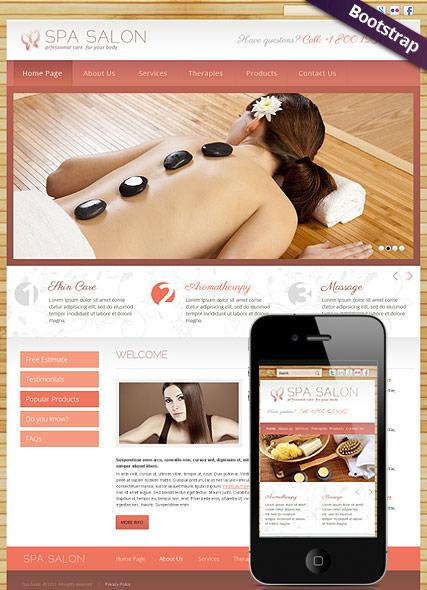Spa Salon Website Design