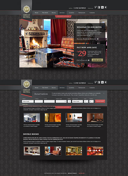 Great Hotel Website Design