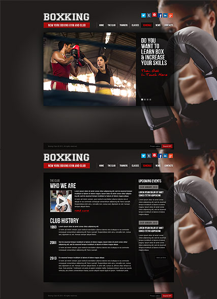 Boxing Website Design