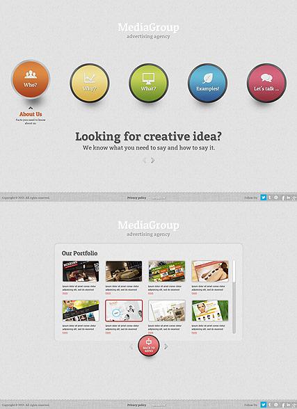 Media Group Website Design