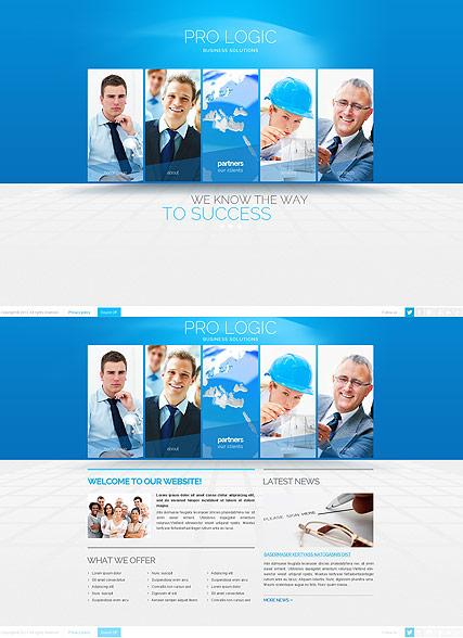 Blue Business Website Design