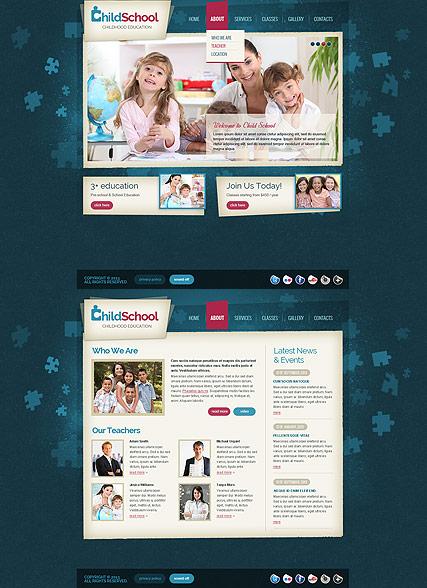 Child School Website Design