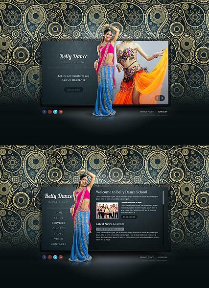 Belly Dance Website Design