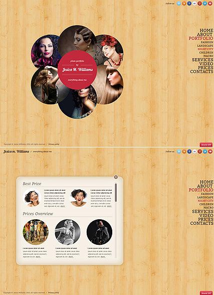 Circle design Website Design