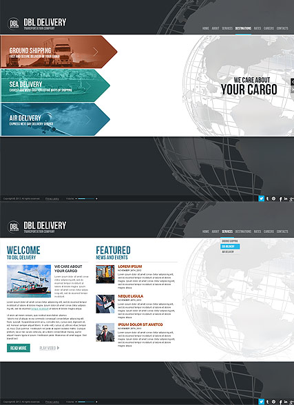 Delivery Company Website Design