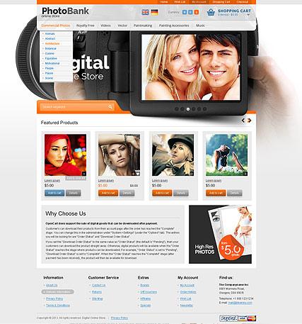 Stock Photos Website Design