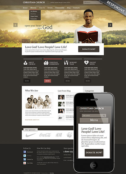 Christian Church Website Design