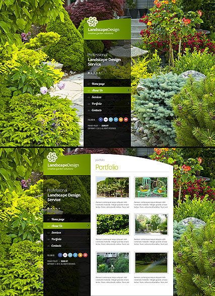 Landscape designing Website Design