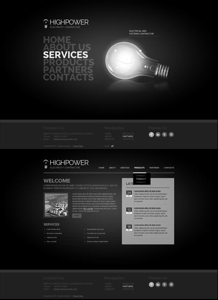 Electricity Contractor Website Design