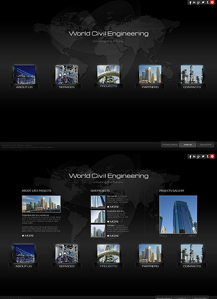 Civil Engineering Website Design
