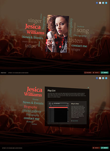 Singer Website Design