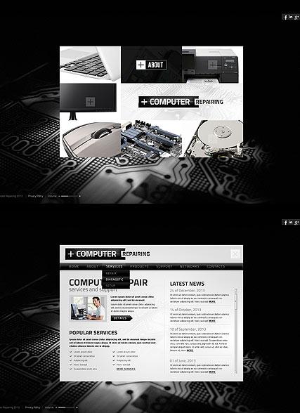 Computer Repairing Website Design