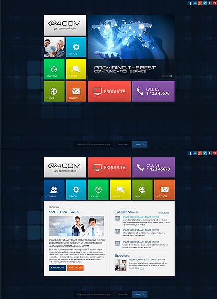 4 Communication Website Design