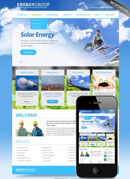 Solar energy v3.0 Website Design