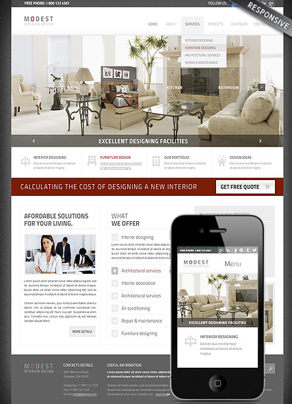 Interior Designing Website Design