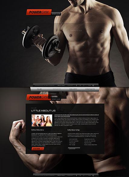 Gym Sport Club Website Design