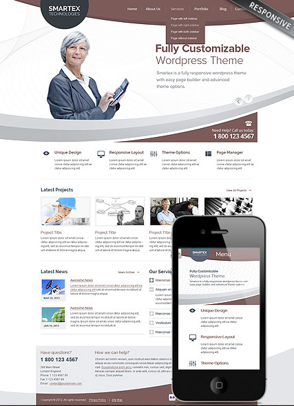 Business Corp Website Design