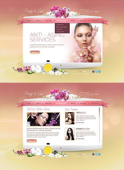 Beauty Spa Salon Website Design