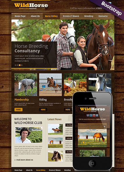 Wild Horse Website Design