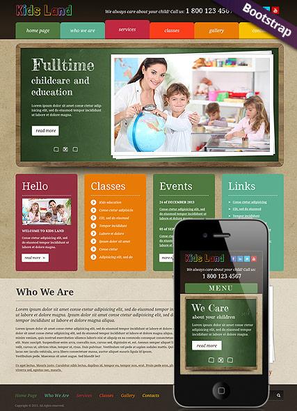 Kids Land Website Design