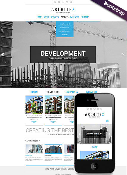 Build and construct Website Design