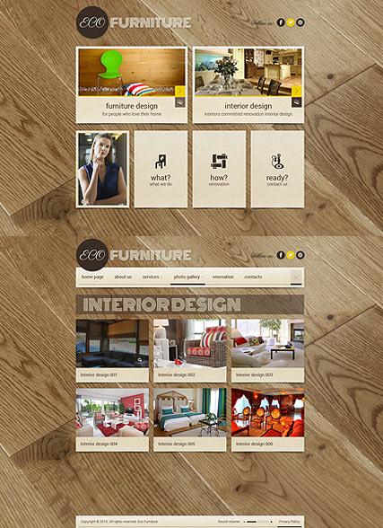 Interior Furniture Website Design
