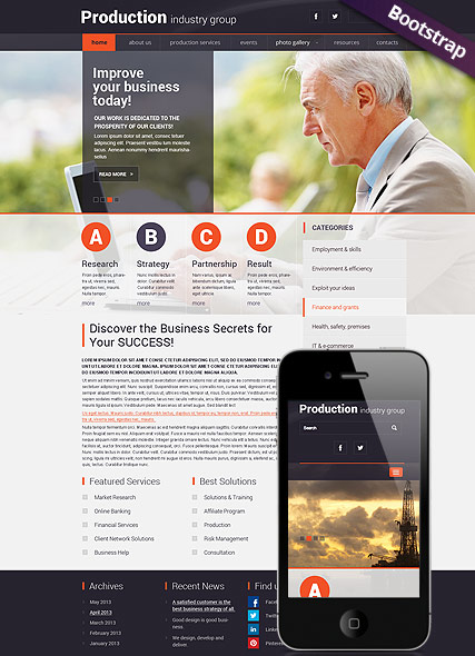 Industry Production Website Design