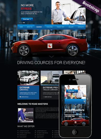 Driving School Website Design