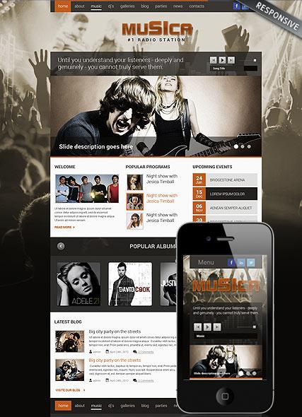 Music Theme Website Design