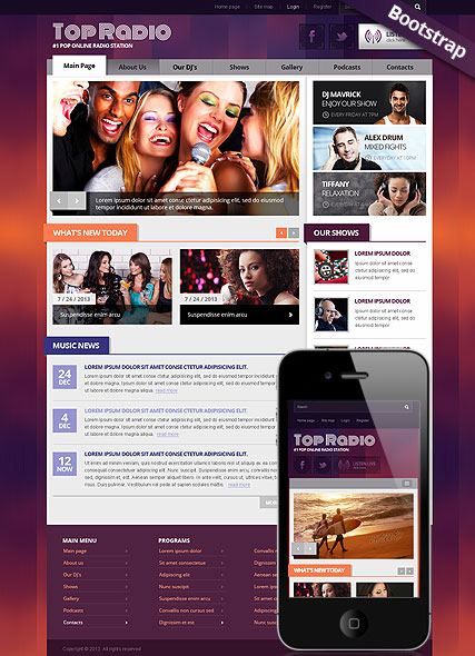 Top Radio Website Design