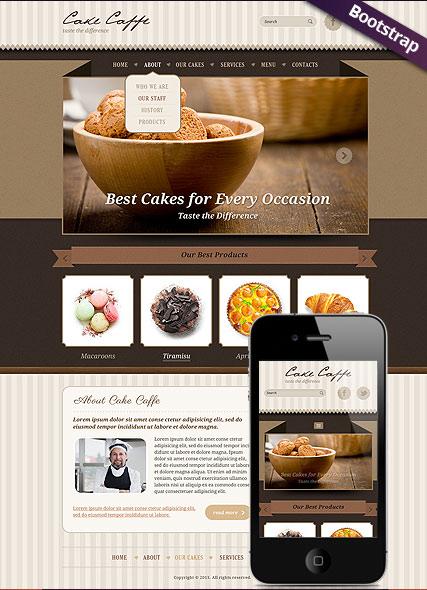 Cake Caffe Website Design