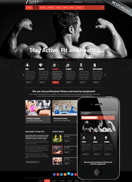 Fitness club v3 Website Design