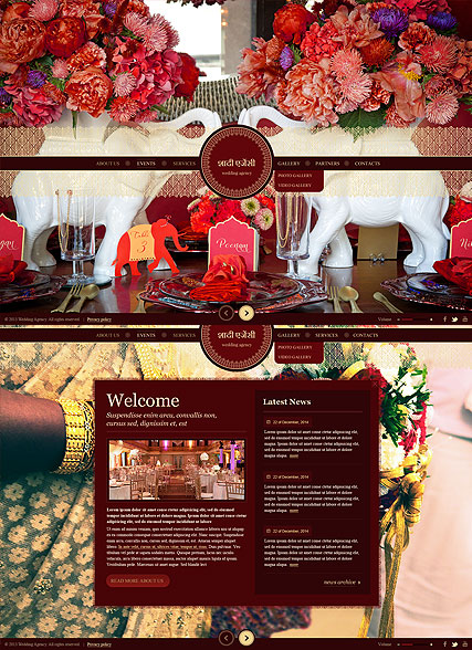 Indian Wedding Website Design